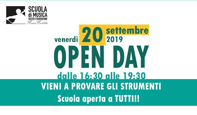 Open day 2019 per sito